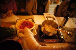 5月5日は朝倉玲子さんの青空料理教室☆