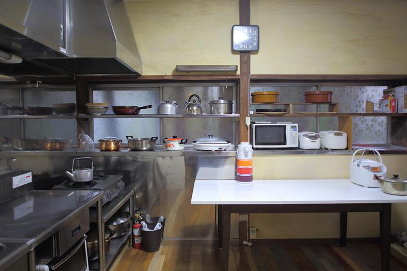 共用の台所の写真