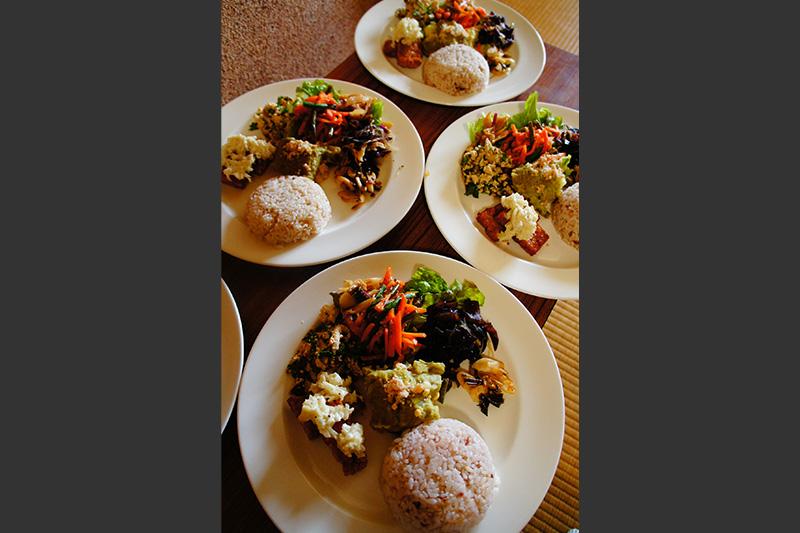 採れたて野菜を使った特製発酵プレートの料理写真2