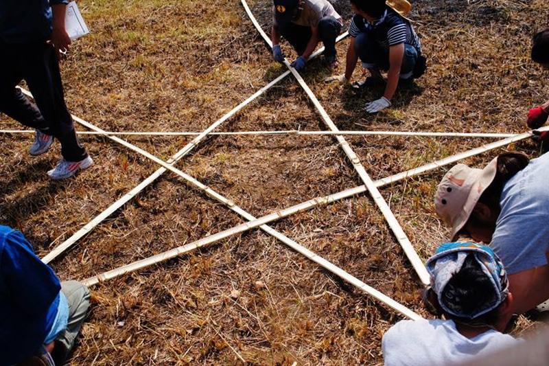 スタードーム作りワークショップの様子の写真